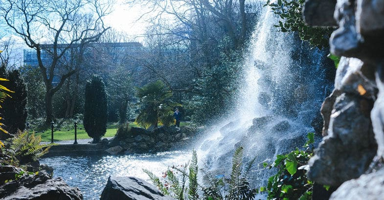 Iveagh Gardens is a great place to take visitors in Dublin