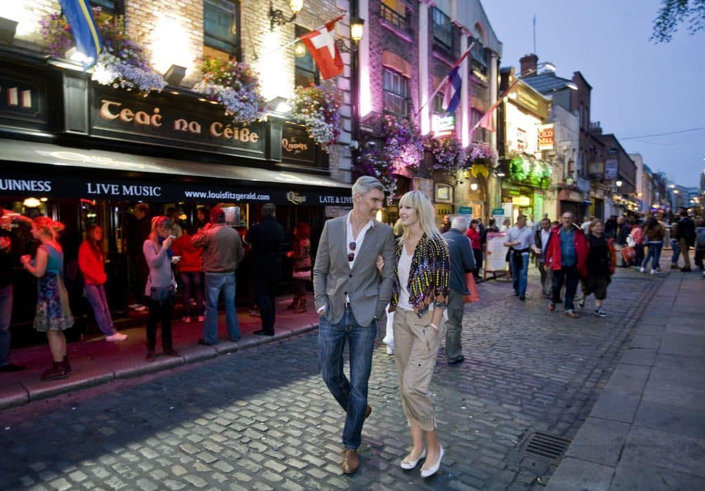 Make time for a Temple Bar pub crawl while in the capital of Ireland