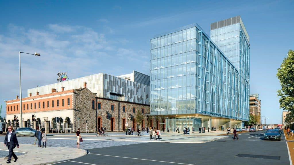 The Exo Building is our top pick for 10 new developments that'll change Dublin due to it's modern look and height.