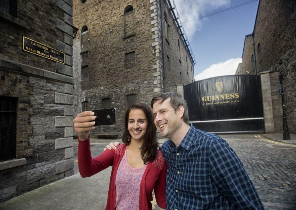 Visitors come from all over the world to see the Guinness Storehouse