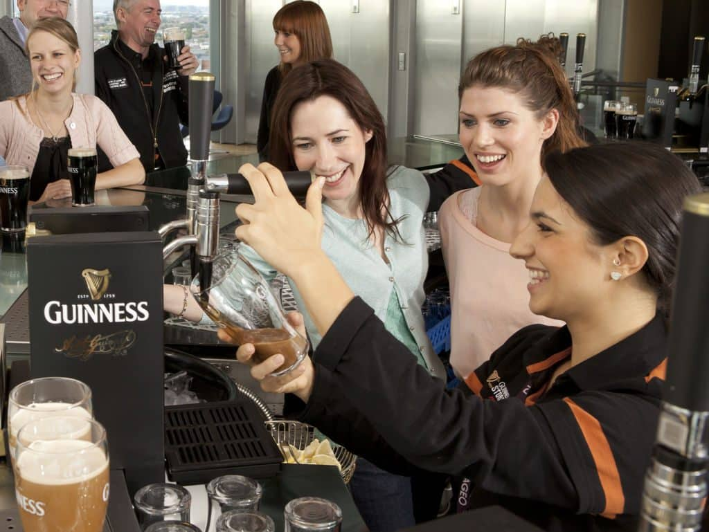 Visitors enjoy pints of the 'black stuff' in the Gravity Bar