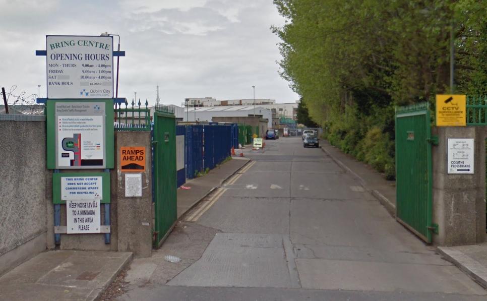 Recycling centre Collins Avenue Dublin